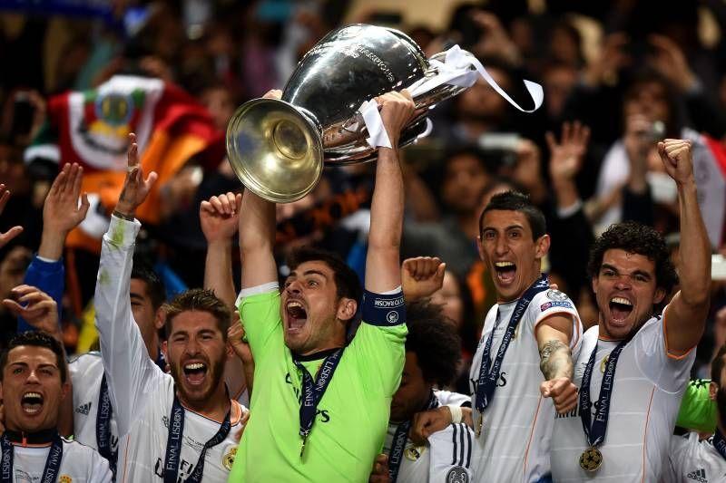 Real Madrid celebrate their La Decima in 2014