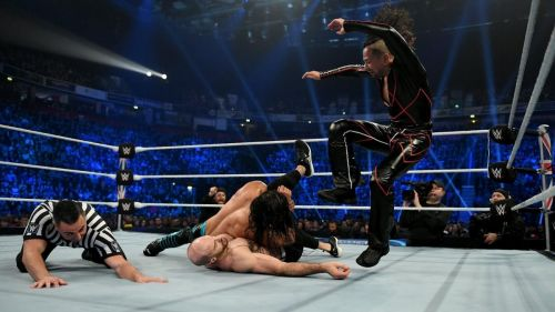 Nakamura in action on SmackDown this week