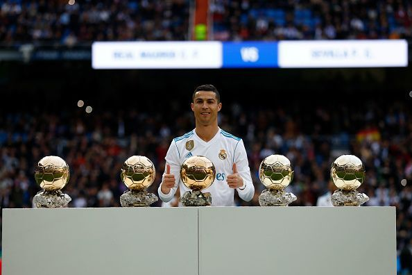 Ronaldo is a five-time winner of the Ballon d