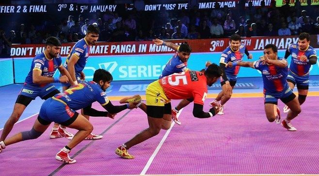 Nitesh Kumar (left) has been one of the most deadly right corners in the Pro Kabaddi League