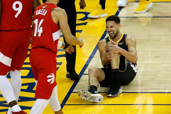 Klay Thompson tore his ACL in the Game 6 of the 2019 NBA Finals