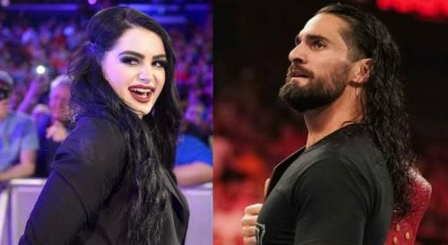 Paige and Seth Rollins
