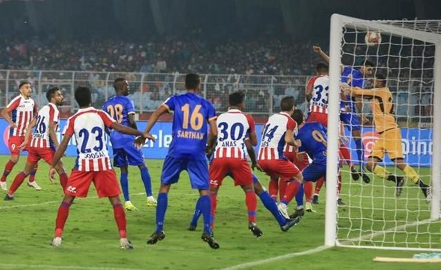 ATK had more chances at goal but Mumbai City showed character to come back into the game. Image: ISL