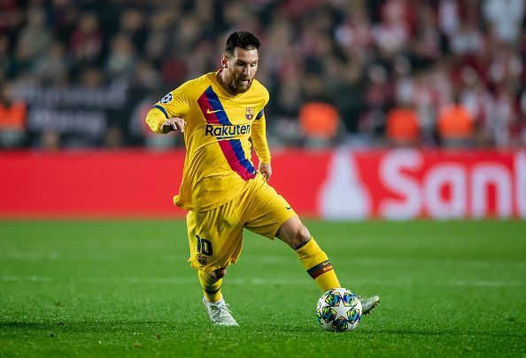 Messi will be looking to help Barca past a tough Slavia Prague side