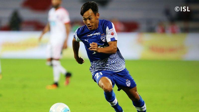 Udanta Singh in a Bengaluru FC shirt (Photo: ISL)