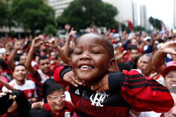 Flamengo fans exult in Rio.