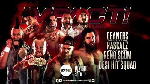 An epic 4-team tag match opened IMPACT tonight
