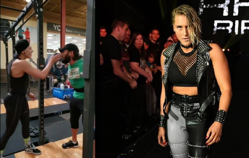Rhea Ripley has her own unique way to motivate her peers