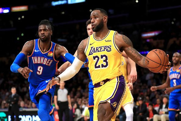 The Oklahoma City Thunder and Los Angeles Lakers meet for the second time in three days