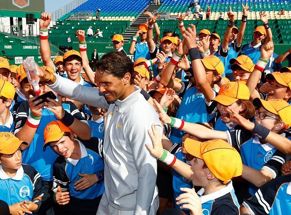 Nadal has always taken an active interest in helping out children