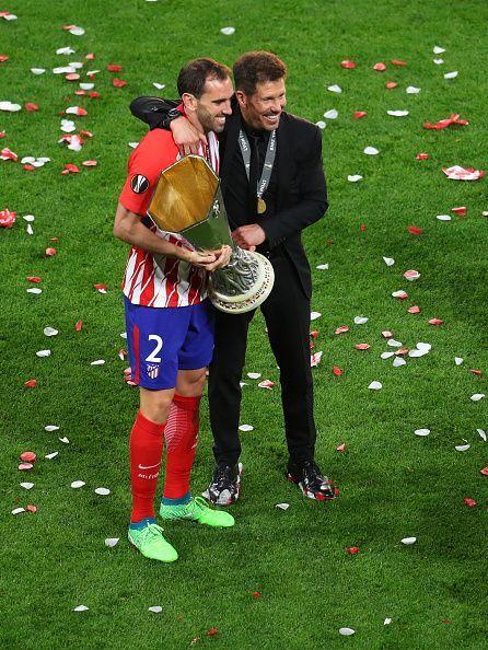 Diego Godin with Diego Simeone