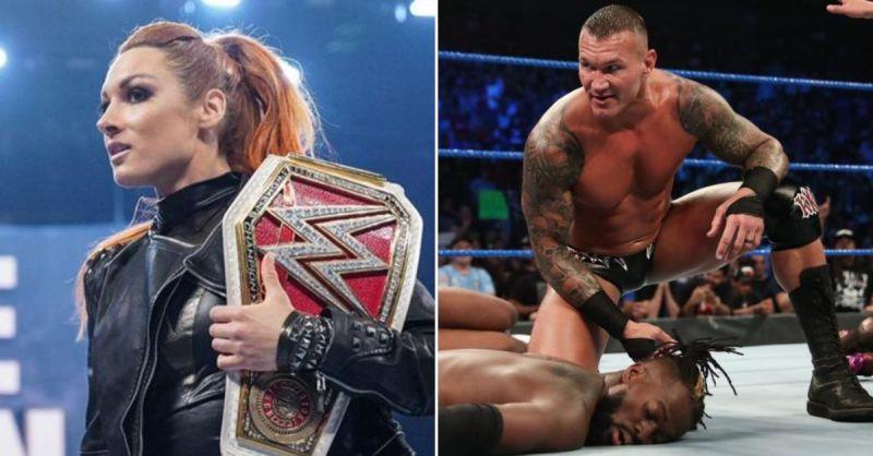 Becky Lynch and Randy Orton