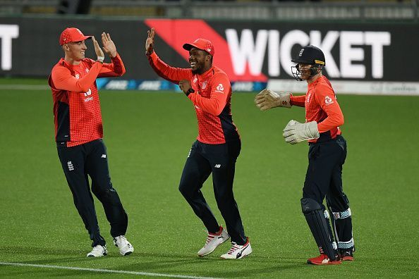 Several young players appeared for England against New Zealand