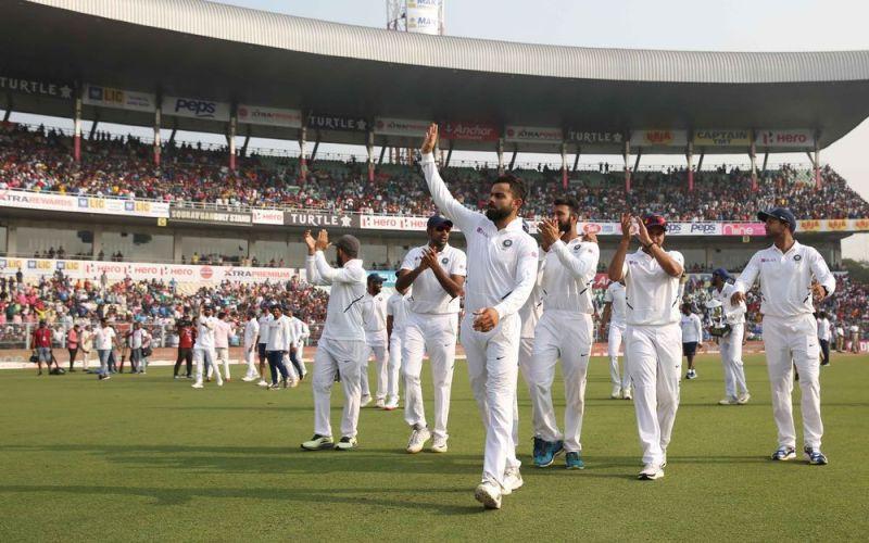 भारतीय टीम की कोलकाता डे-नाईट टेस्ट में बेहतरीन जीत (Photo: BCCI)