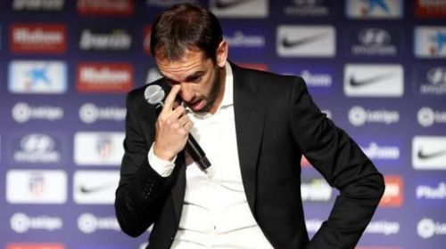 Godin had tears in his eyes as he announced his Atletico Madrid departure in May 2019