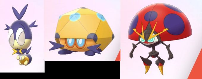 Image result for blipbug dottler orbeetle pokemon