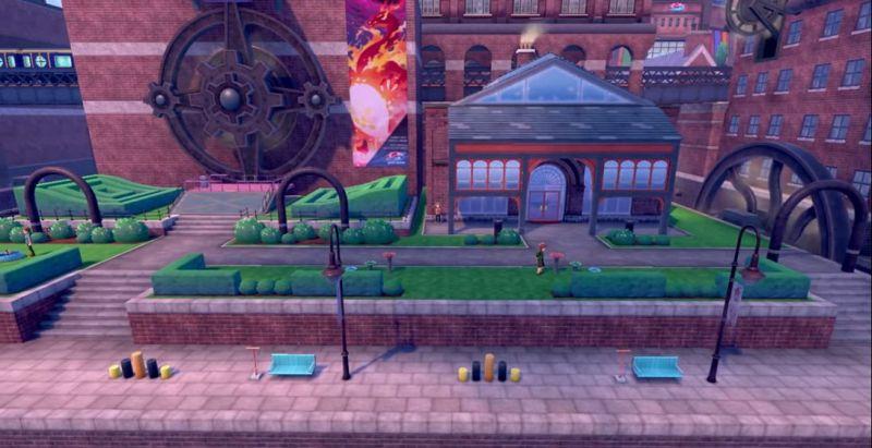 A city in Pokemon Sword/Shield; the layout of a Wild Pokemon encounter