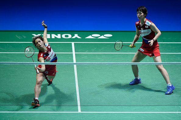 Yuki Fukushima (in action) and Sayaka Hirota