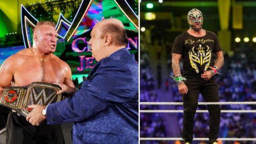 WWE चैंपियनशिप के लिए ब्रॉक लैसनर बनाम रे मिस्टीरियो के बीच मुकाबला होगा