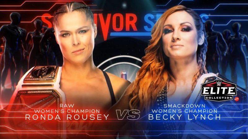 Ronda Rousey vs Becky Lynch Poster, Survivor Series 2018