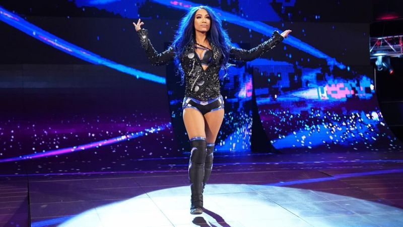 Sasha Banks debuted her new theme song in Manchester