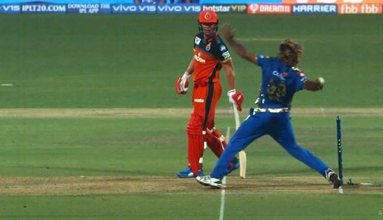 The umpires had missed a no-ball from Lasith Malinga in the match between Mumbai Indians and Royal Challengers Bangalore
