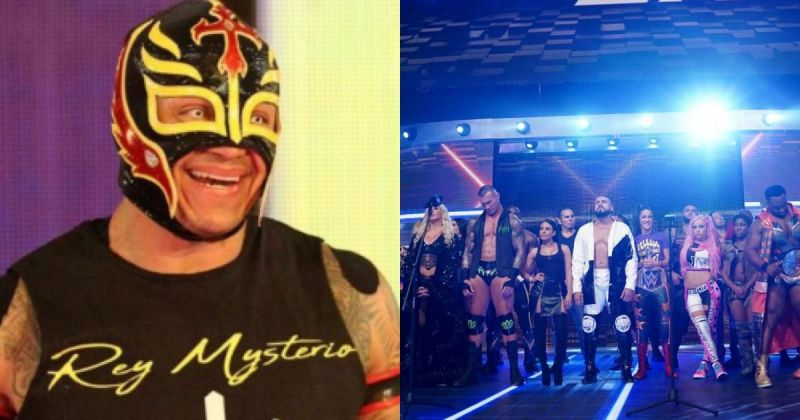 Rey Mysterio and the WWE roster.