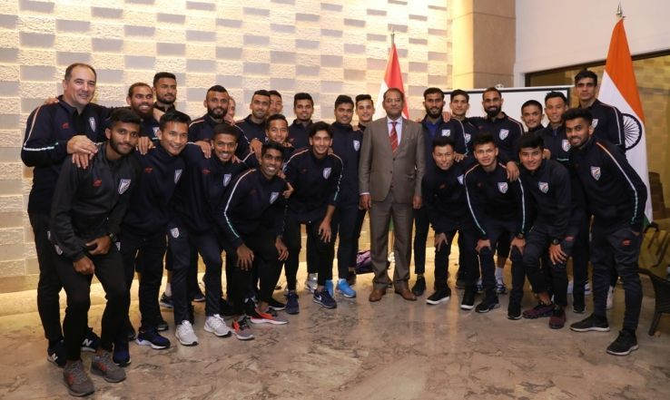 Viraj Singh with the Indian team.