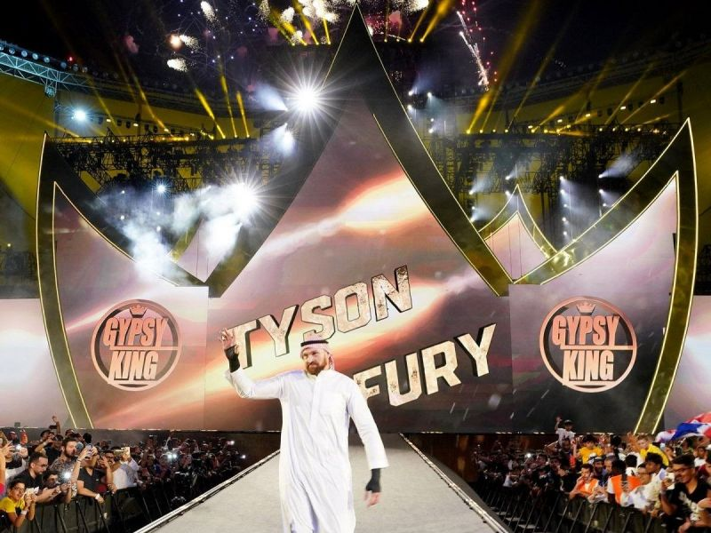 Tyson Fury made a show stopping entrance at Crown Jewel