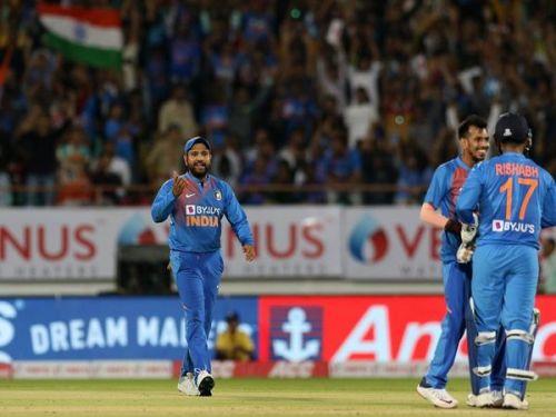 India's fielding was below-par in the match.