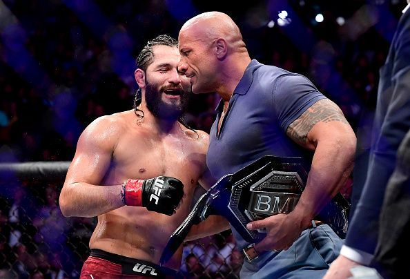 Jorge Masvidal with The Rock at UFC 244