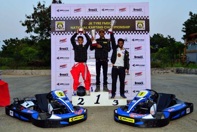 Sawan Satyanarayanan, who finished 1st celebrates his win