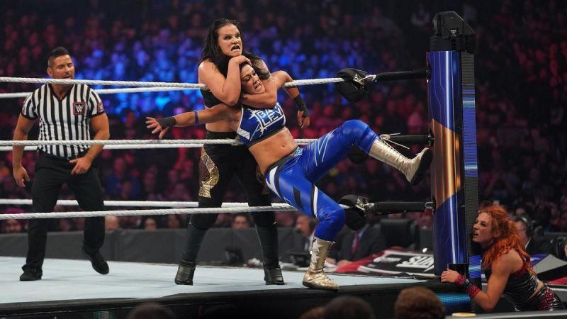 Shayna Baszler vs. Bayley vs. Becky Lynch.