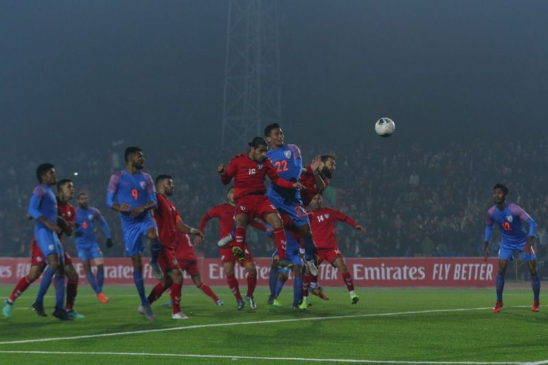 Seiminlen Doungel scoring the equalizer (Photo:AIFF)