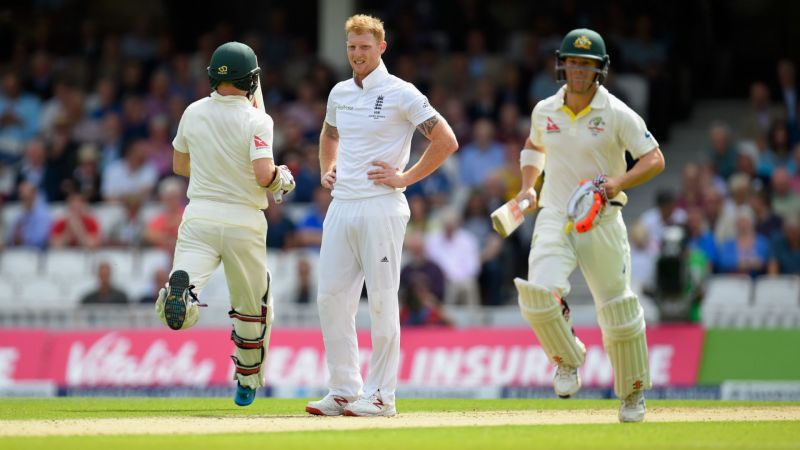 Ben Stokes and David Warner playing in the Ashes