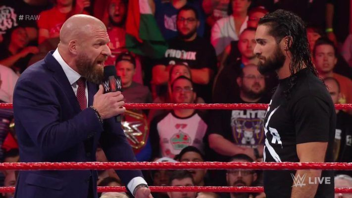 Image result for triple h seth rollins raw 2019
