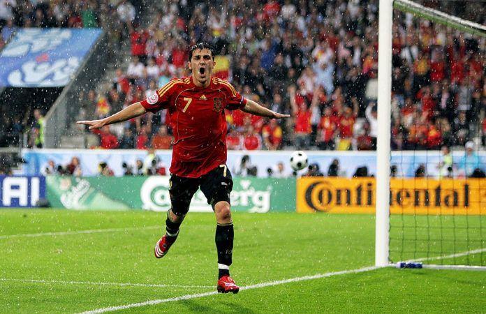 David Villa at Euro 2008