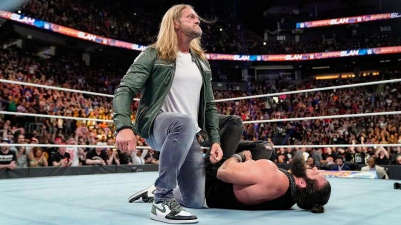 Edge speared Elias at SummerSlam this past August.