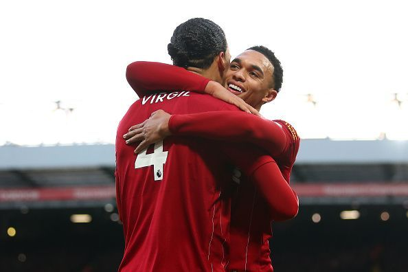 Trent Alexander-Arnold provided the assists for both of Liverpool