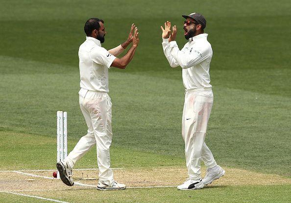 Mohammed Shami and Virat Kohli
