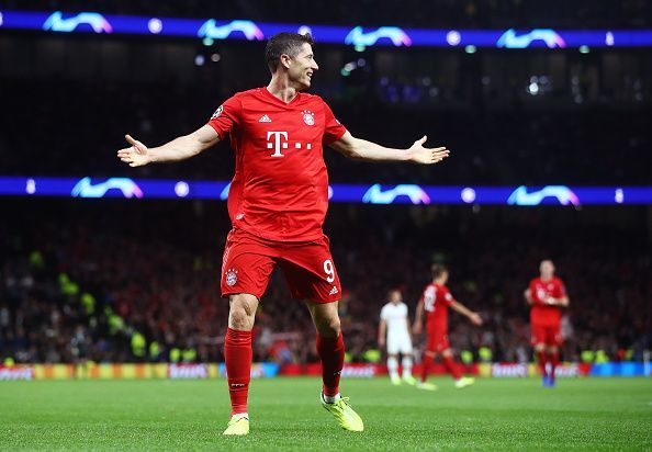 Lewandowski already has 16 goals for Bayern in the league this season