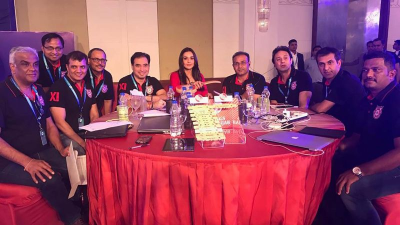 Kings XI Punjab at the auction table
