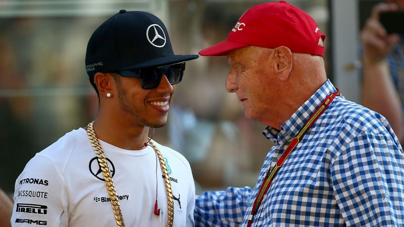 Lewis Hamilton and Niki Lauda - cropped