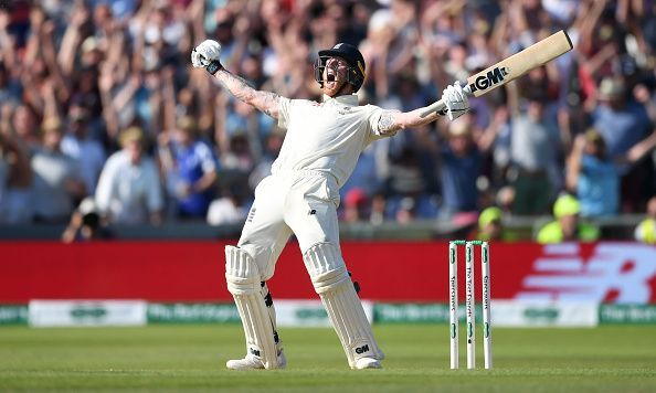 Ben Stokes after hitting the winning runs in Leeds