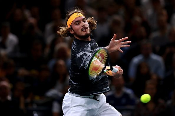 Stefanos Tsitsipas struggled against Novak Djokovic in Paris