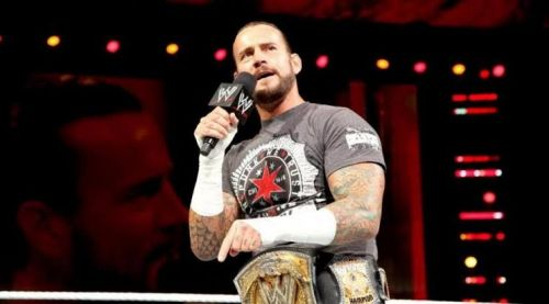 CM Punk during one of his WWE title reigns