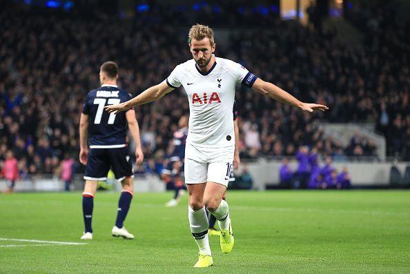 Harry Kane scored a brace against Crvena in Tottenham