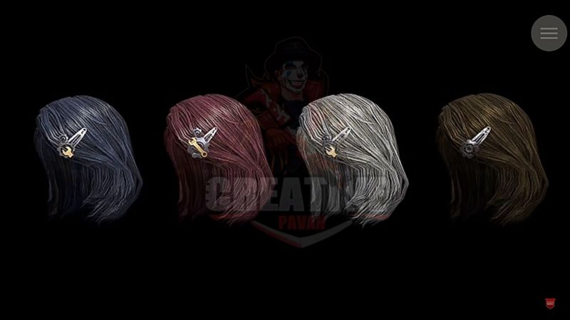 PUBG Mobile's new female character Sara's hairstyles (Image: Creative Pavan Live, YouTube)