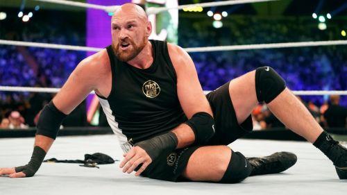 Tyson Fury was attacked by Braun Strowman post-match