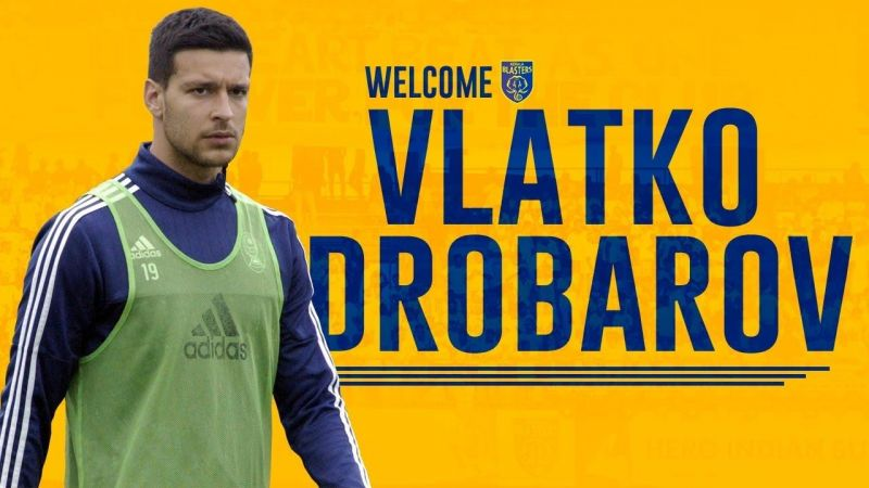 Kerala Blasters have signed Macedonian centre-back Vlatko Drobarov as a replacement for Jairo Rodrigues